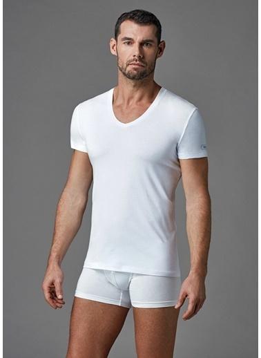 Dagi Compact V Yaka T-Shirt Beyaz